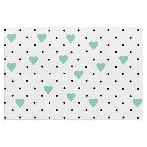 'Pin Point Polka Dot Mint' Doormat