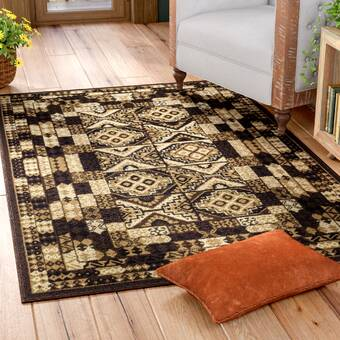World Menagerie Mattea Southwestern Black Area Rug Reviews Wayfair