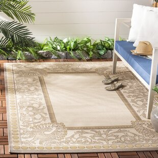 Bristlewood Beige Indoor/Outdoor Area Rug