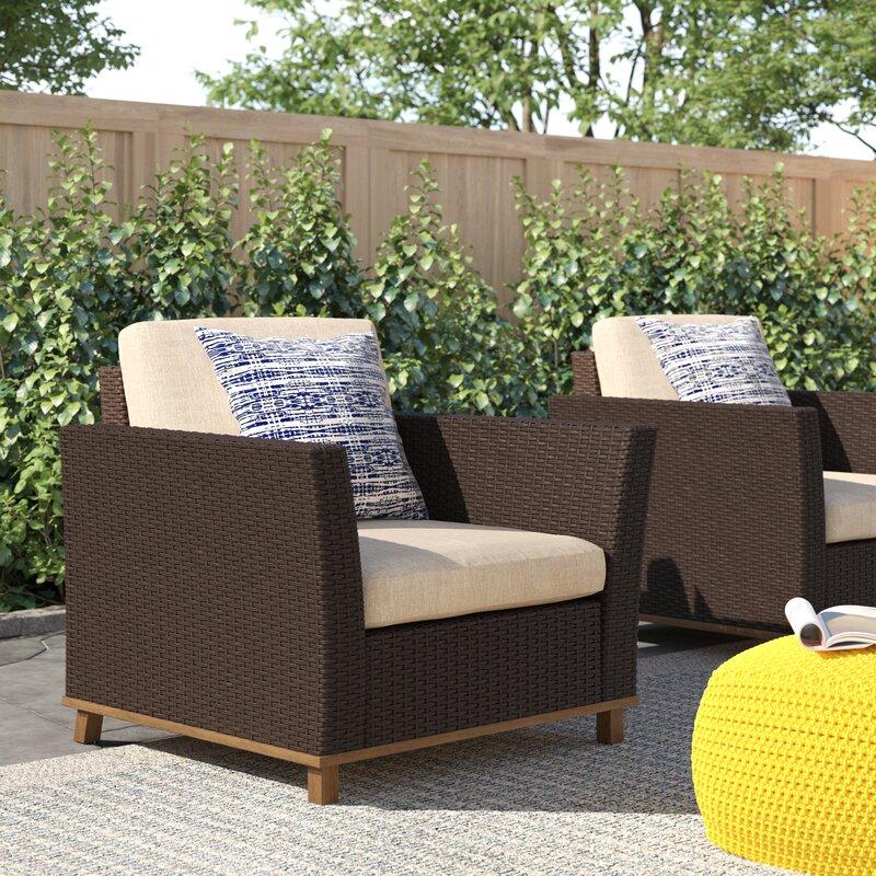 Zipcode Design™ Midland Patio Chair With Cushions & Reviews   Wayfair