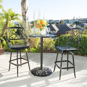 Wynn 3 Piece Bar Height Dining Set
