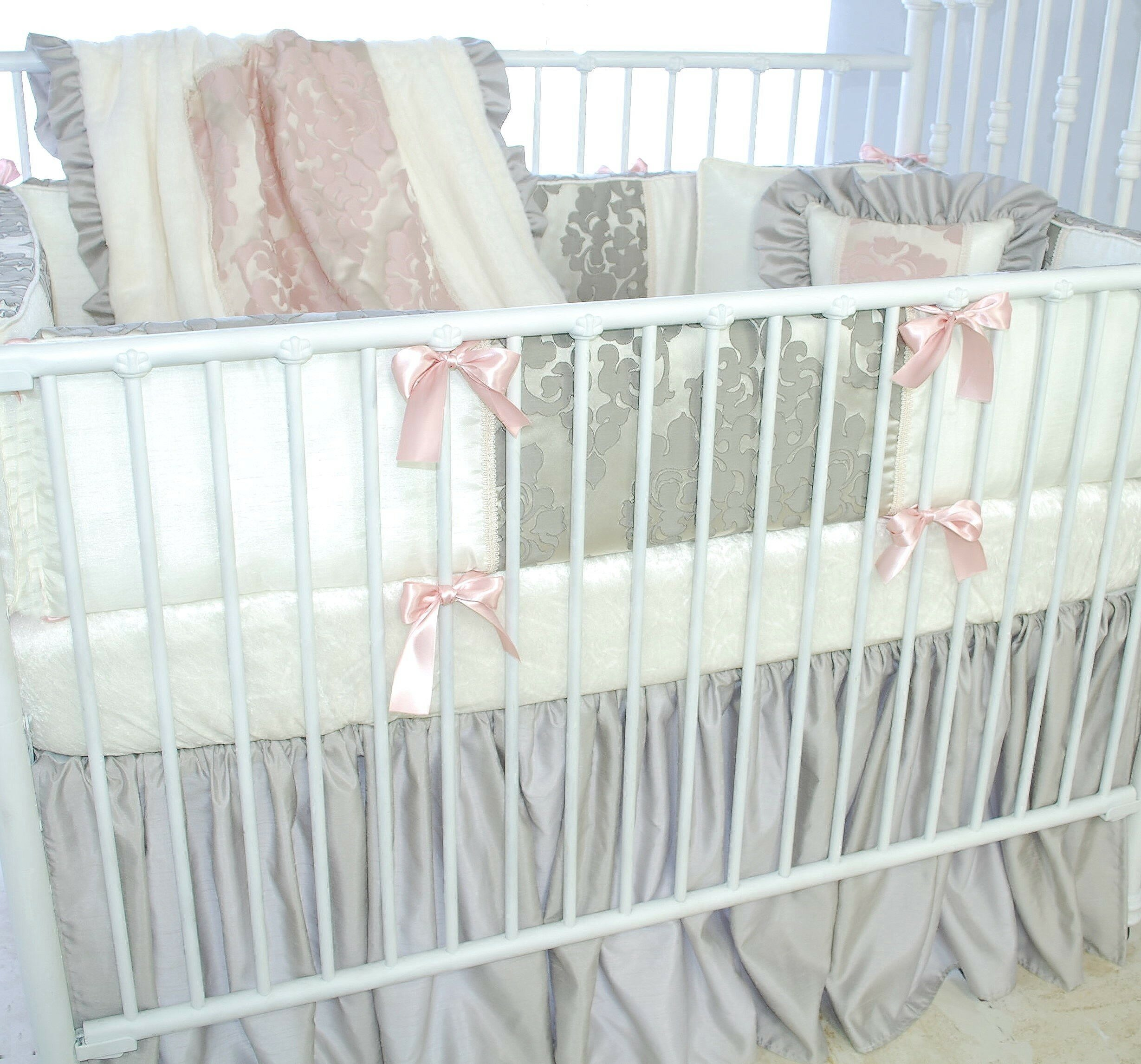 Pink Butterfly Ben /& Noa Percale Fitted Crib Sheet