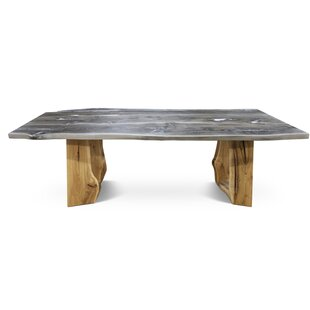 Hailey Solid Wood Dining Table Loon Peak