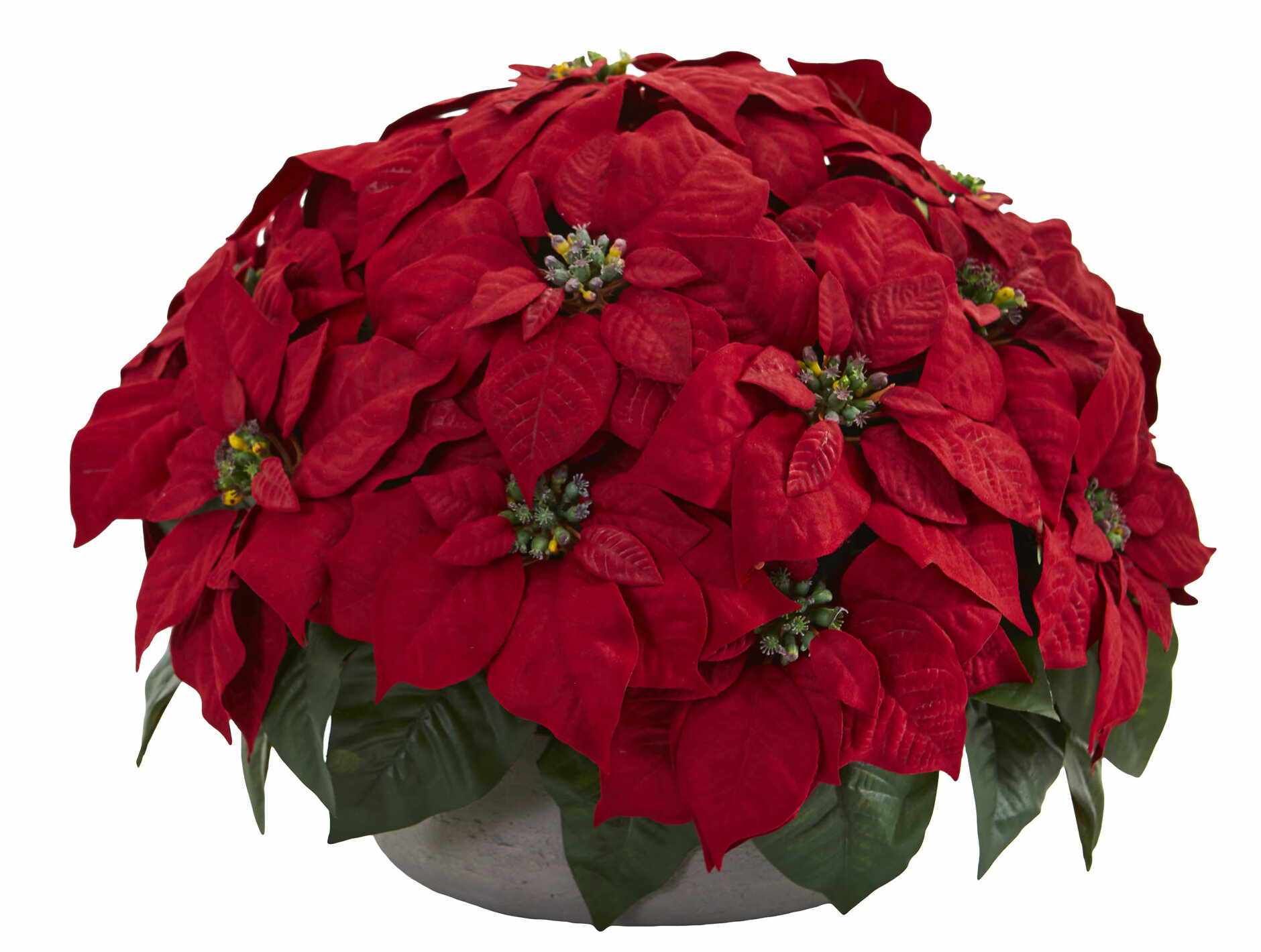 The Holiday Aisle 14 Artificial Foliage Plant In Planter Wayfair