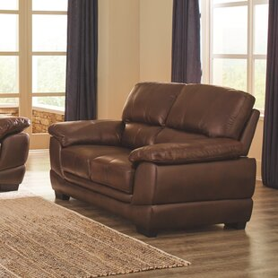 Phelan Leather Loveseat by Red..