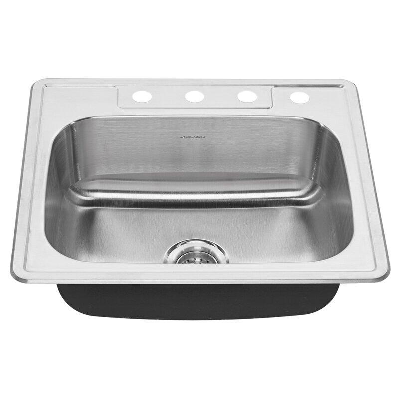 American Standard Colony Top Mount 25 L X 22 W Bar Kitchen Sink Wayfair