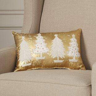 Dalton Multi Trees Cotton Lumbar Pillow