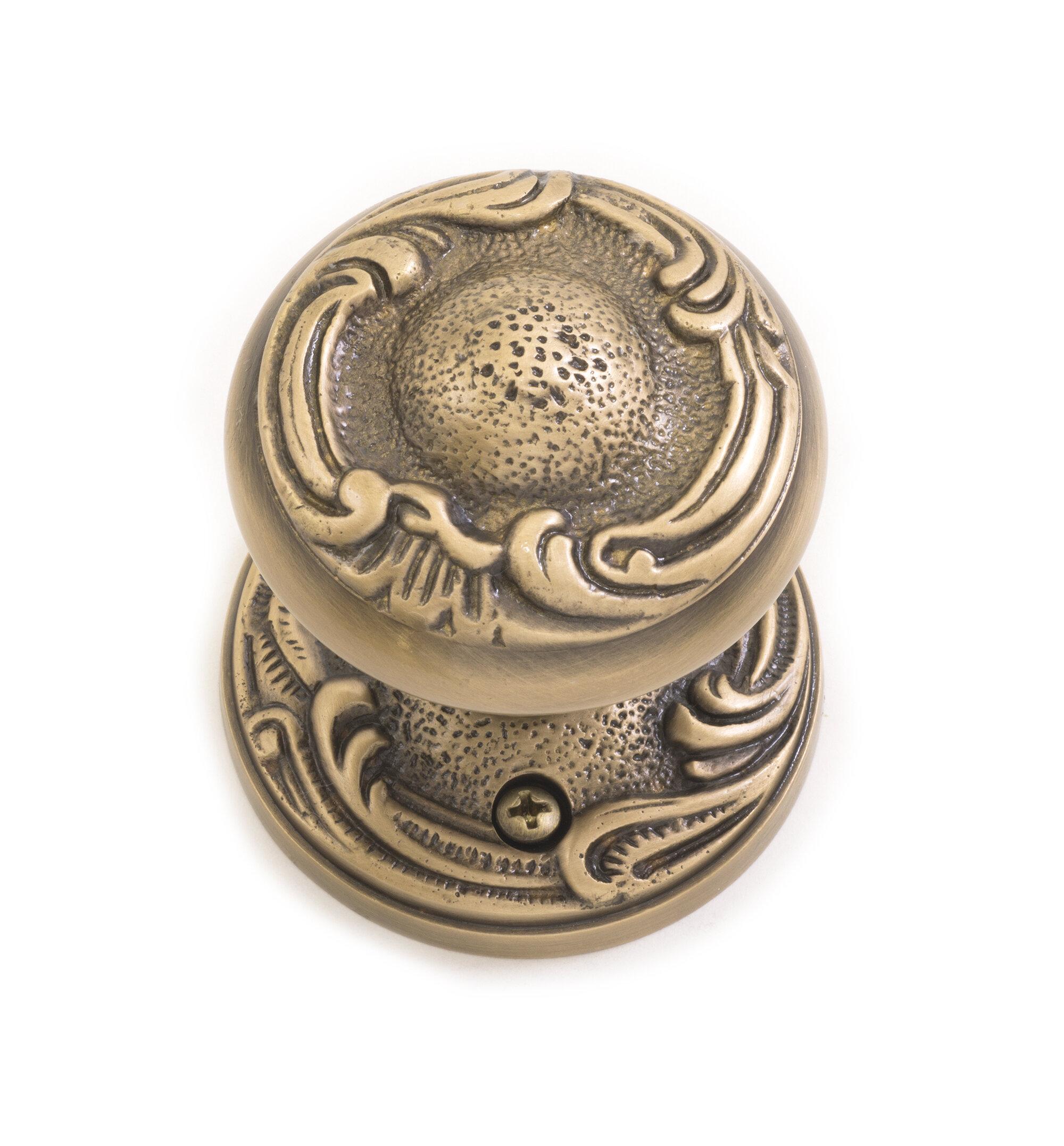 Brass Accents Lafayette Double Dummy Door Knob With Rosette Wayfair