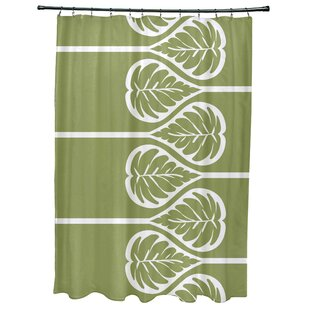 Sigsbee Fern 2 Floral Print Single Shower Curtain