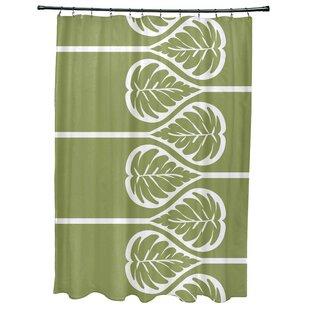 Sigsbee Fern 2 Floral Print Single Shower Curtain