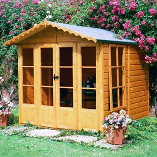 Finty 6.5 X 6.5 Ft. Shiplap Summer House By Sol 72 Outdoor