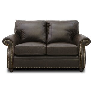 Bucoli Leather Loveseat by Williston Forge