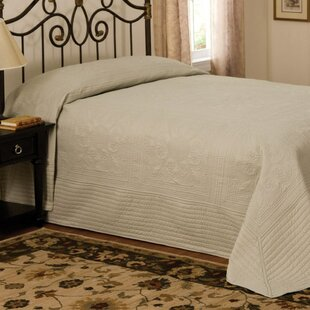 August Grove Gilles French Tile Bedspread in Sage