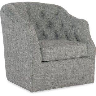 Addie Swivel Barrel Chair by Sam Moore