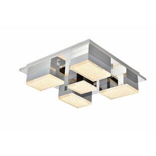 Orren Ellis Corbyn 5-Light LED Flush Mount
