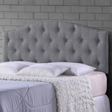 Dev Scalloped Queen Upholstered Panel Headboard by Charlton Home®