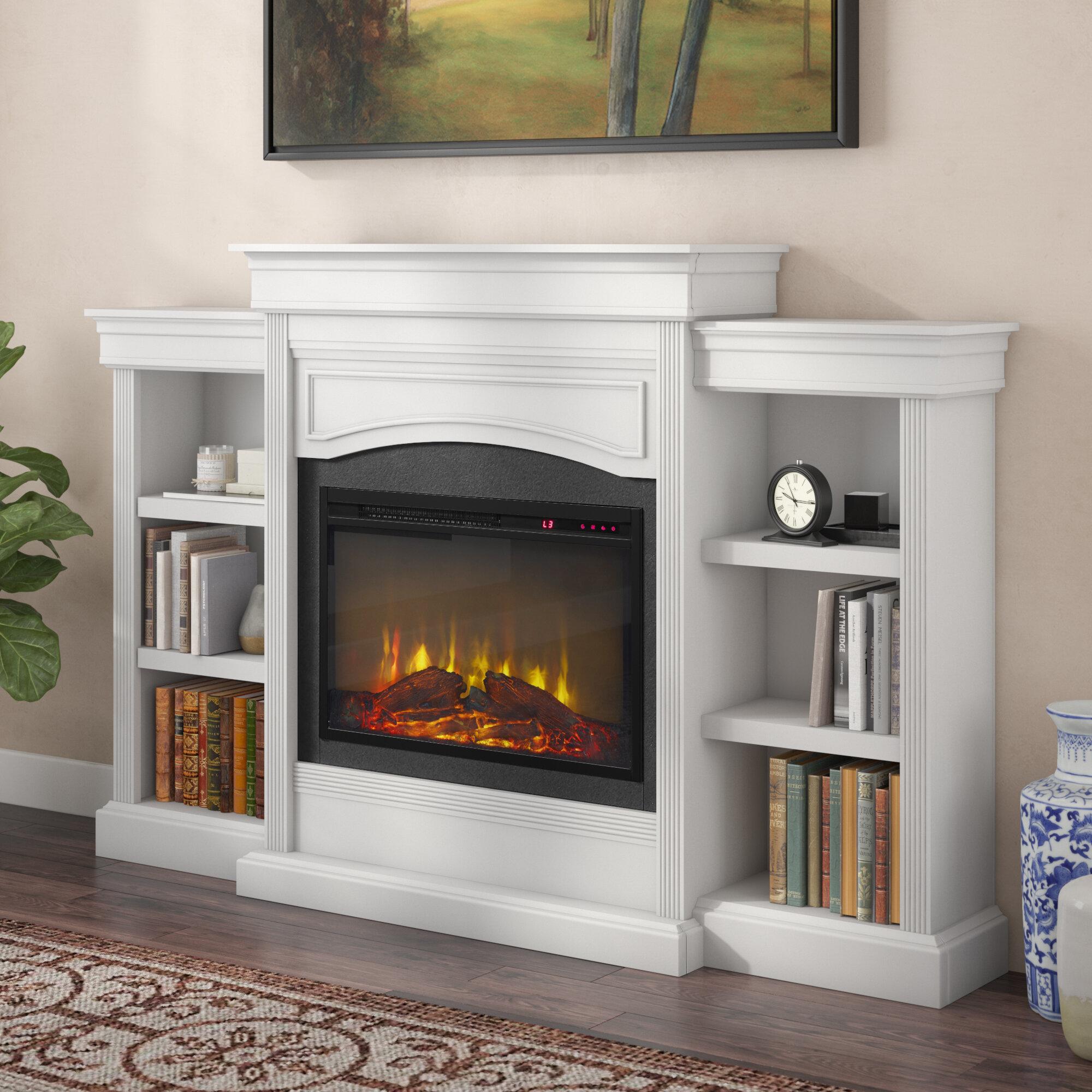 Charlton Home Allsop Mantel Wall Mounted Electric Fireplace Reviews Wayfair