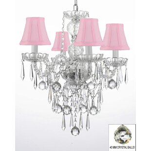 House of Hampton Kimbrel 4-Light Shaded Chandelier