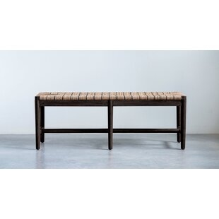 Melgoza Wood Bench by Bungalow Rose