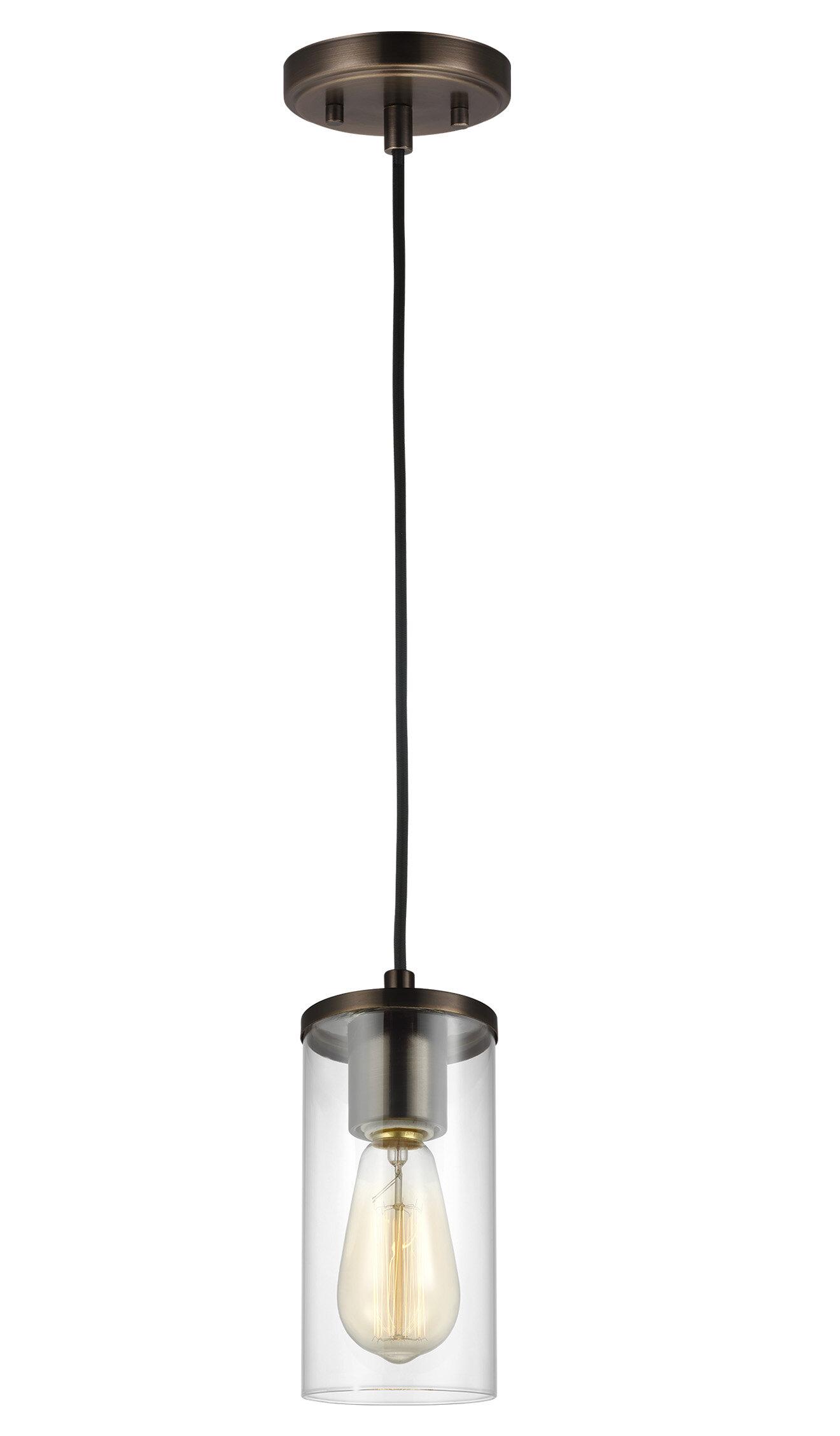 Orren Ellis Tallapoosa 1 Light Single Cylinder Pendant Reviews Wayfair