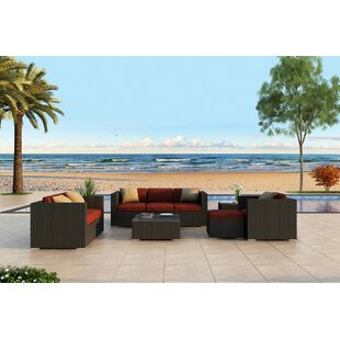Harmonia Living Urbana 5 Piece Sunbrella Sofa Set with Cushions