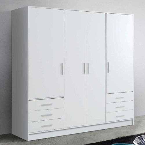 Shoaf 4 Door Wardrobe Mercury Row