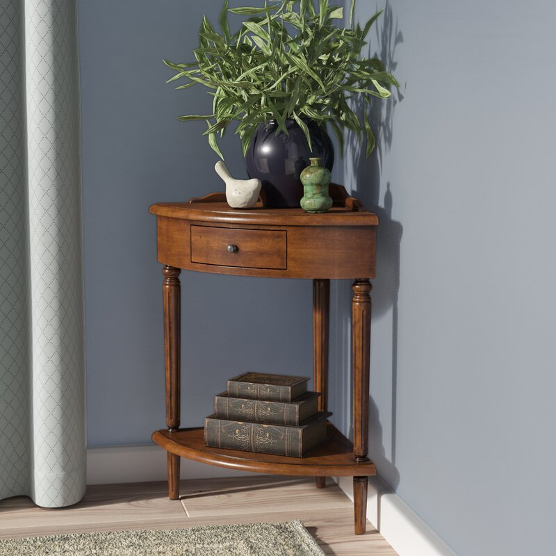 Wilfredo Corner End Table with Storage