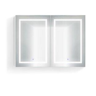 Check Prices Vandeventer 48 x 36 Recessed or Surface Mount Medicine Cabinet with 6 Adjustable Shelves and LED Lighting ByOrren Ellis