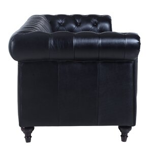 Leather Tufted Sofas Youll Love Wayfair