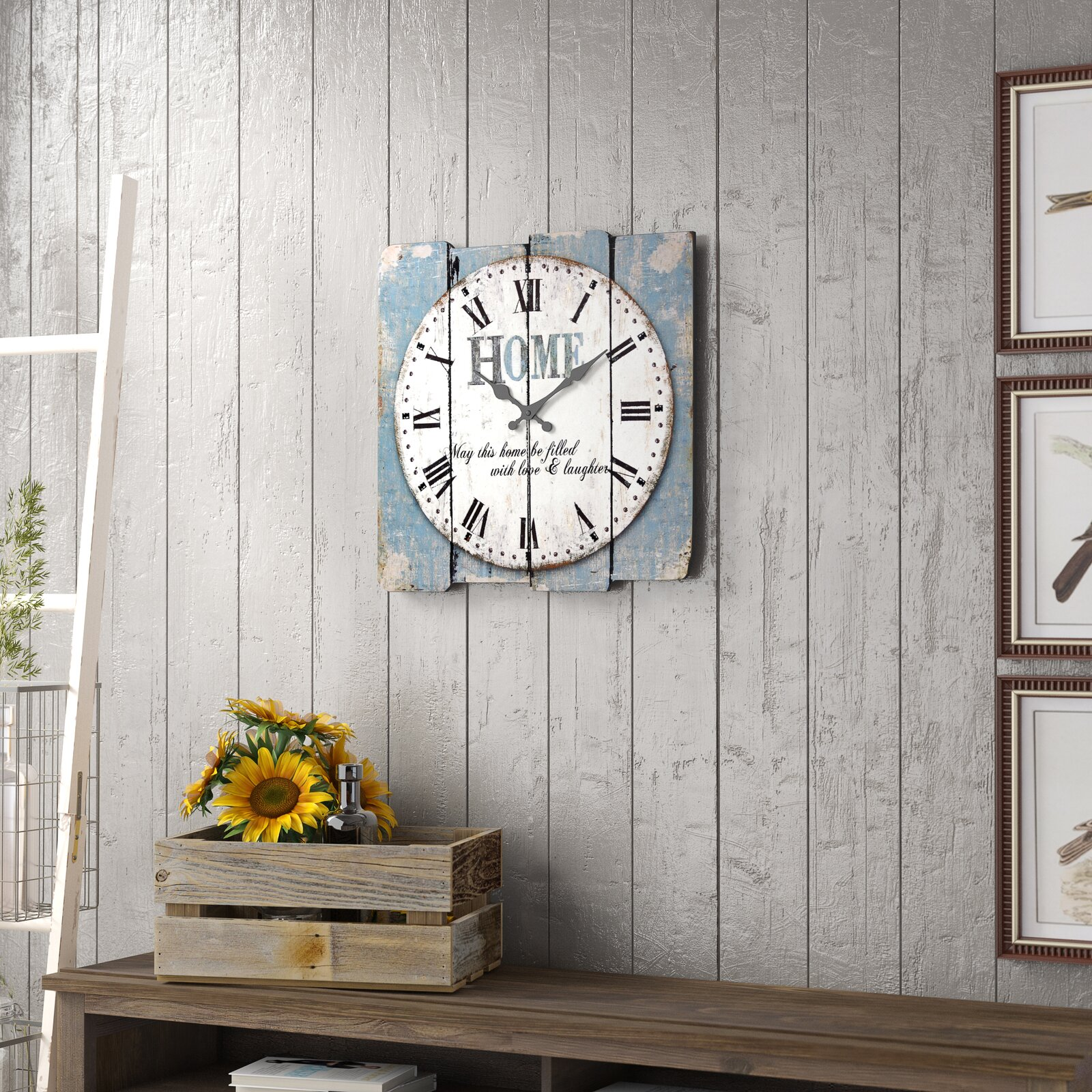 Vintage Shabby Chic Wall Clock - Pettine Wall Clock