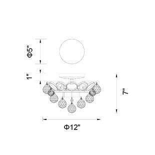 Glimmer 3-Light Semi Flush Mount by CWI Lighting