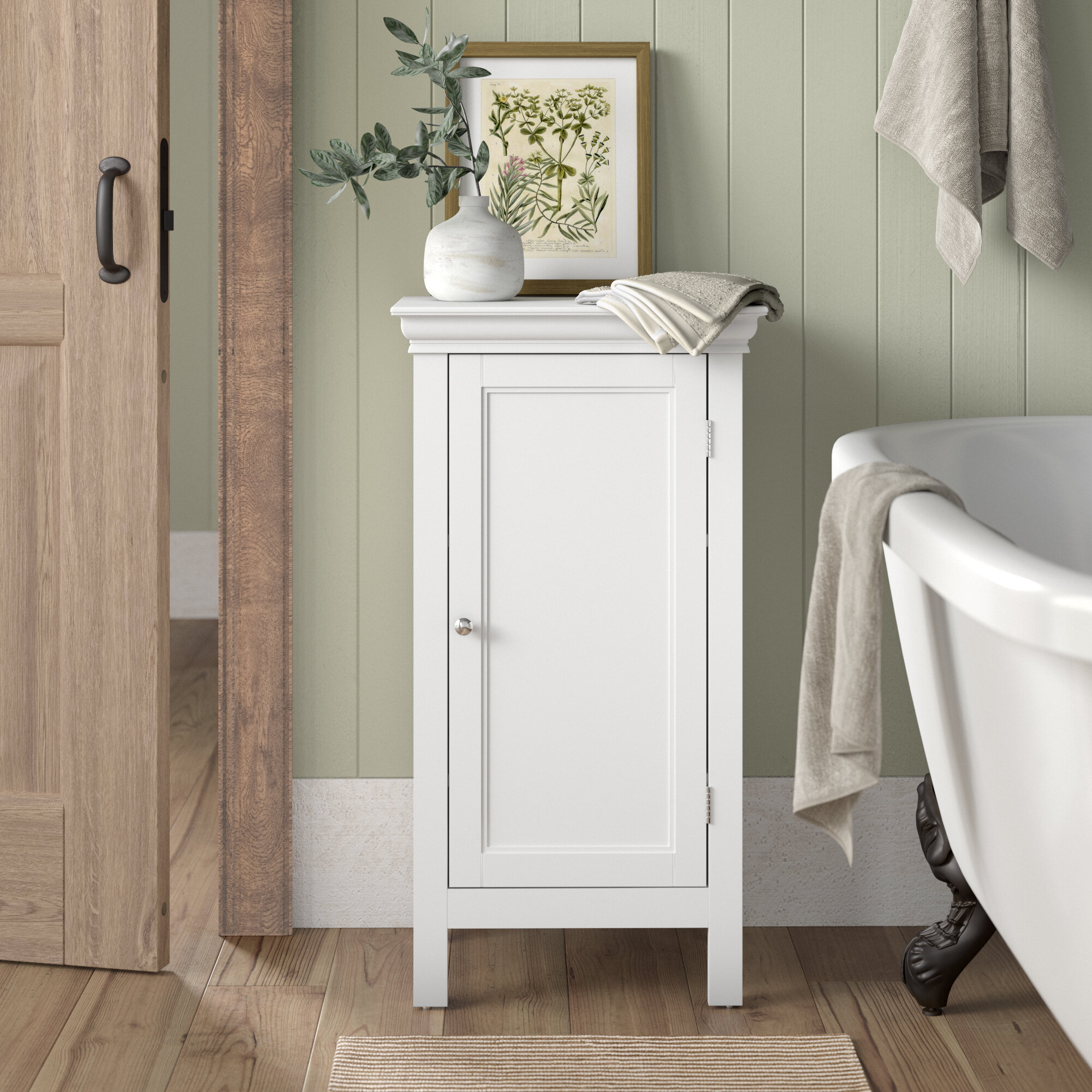Caspar 18 W X 34 H X 14 D Free Standing Bathroom Cabinet Reviews Birch Lane