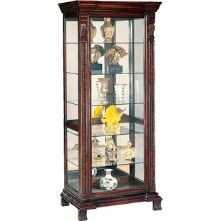 Asotin Lighted Curio Cabinet by Wildon Home?