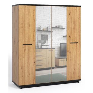 Cyrille 4 Door Wardrobe By Ebern Designs
