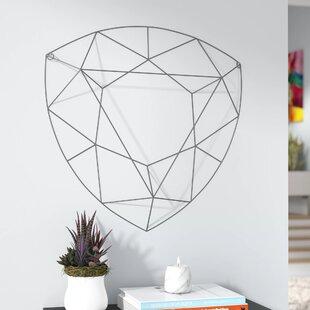 Multi Facet Diamond Shape Wall Décor