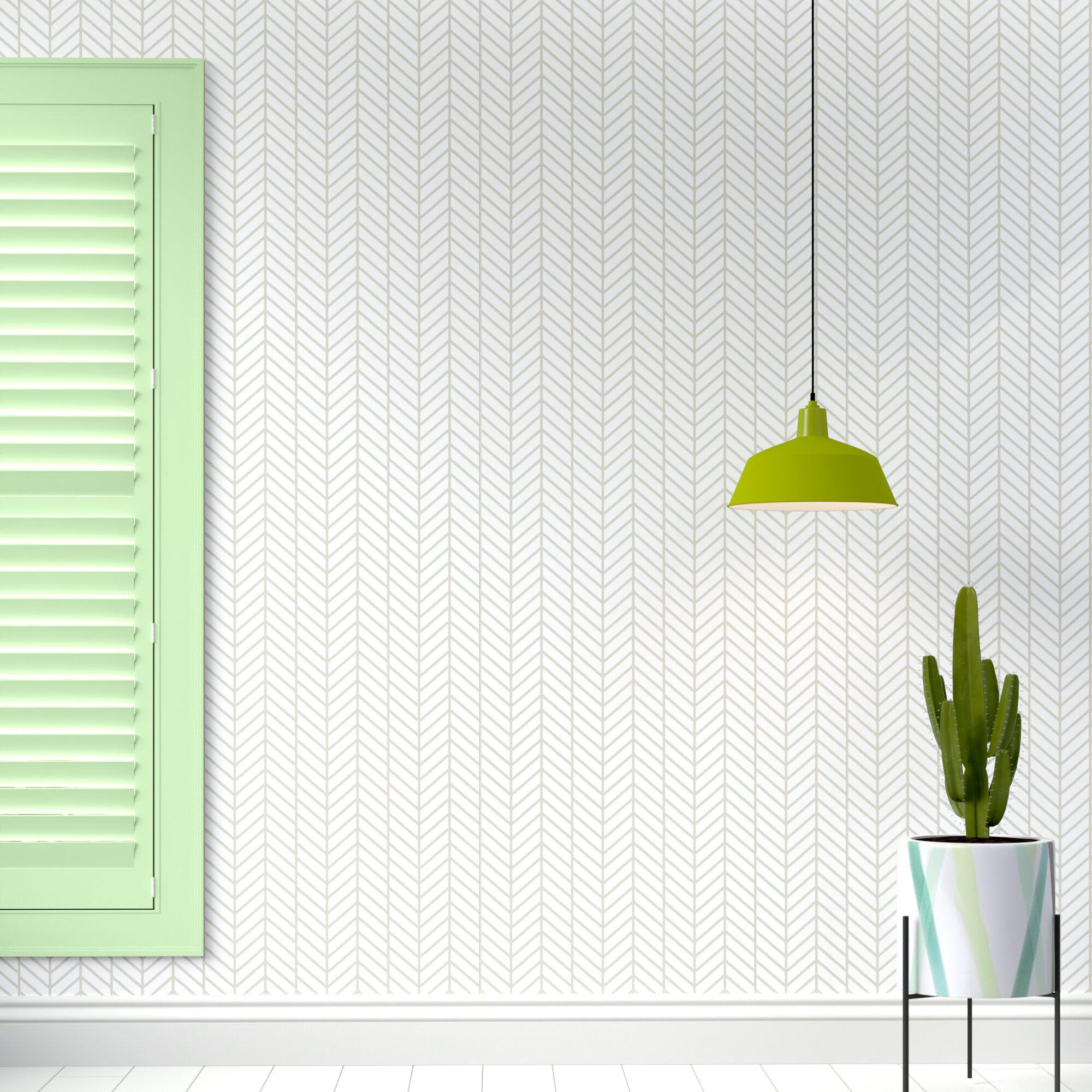 Hashtag Home Nevaeh Herringbone Line Matte Fine Fabric Weave Peel And Stick Wallpaper Panel Reviews Wayfair