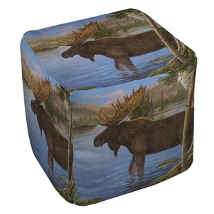 Moose Pouf by Manual Woodw..