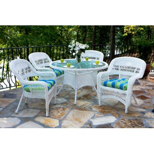 Three Posts Baden 5 Piece Dining Set with Cushions