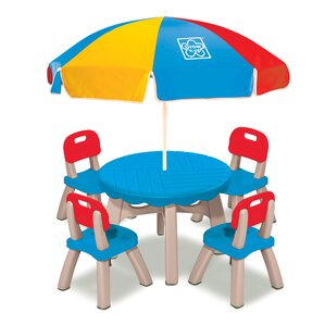 Summertime Kids 6 Piece Patio Round Table And Chair Set
