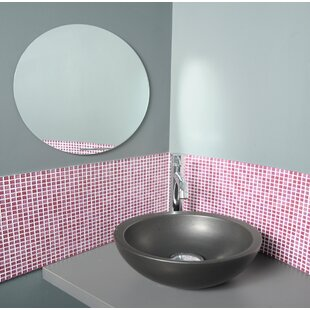 Mirrorfina Adhesive Round Bath Wall Mirror