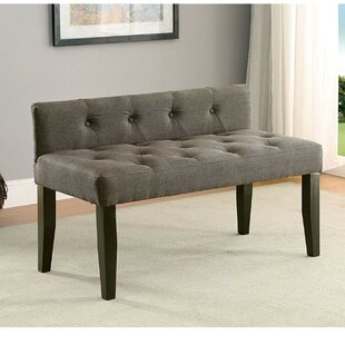 Cantor Contemporary Wood Bench by Alcott Hill Best