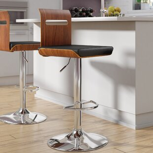 Grove City Adjustable Height Swivel Bar Stool Wade Logan