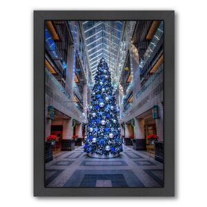 'Blue Christmas Tree' Framed Photographic Print