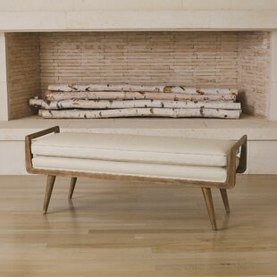 Lucas Long Faux Leather Bench