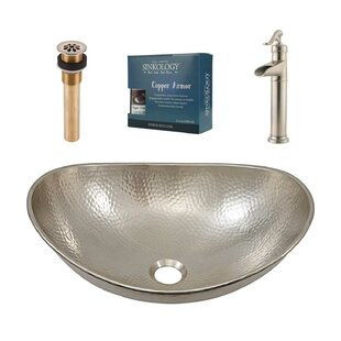 Sinkology Hobbes Metal Oval Vessel Bathroom Sink with Faucet