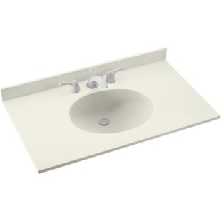Find a Ellipse 37 Single Bathroom Vanity Top By Swan Surfaces