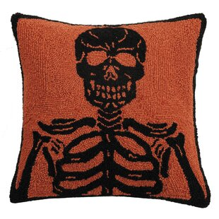 Mckillip Skeleton Hook Wool Throw Pillow