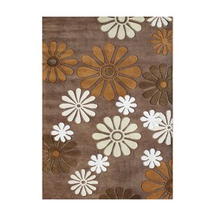 Affordable Plymouth Hand-Tufted Dark Chocolate Area Rug By The Conestoga Trading Co.