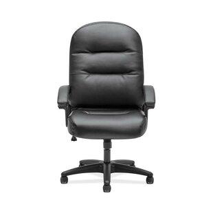 HON High-Back Genuine Leather Executive Chair