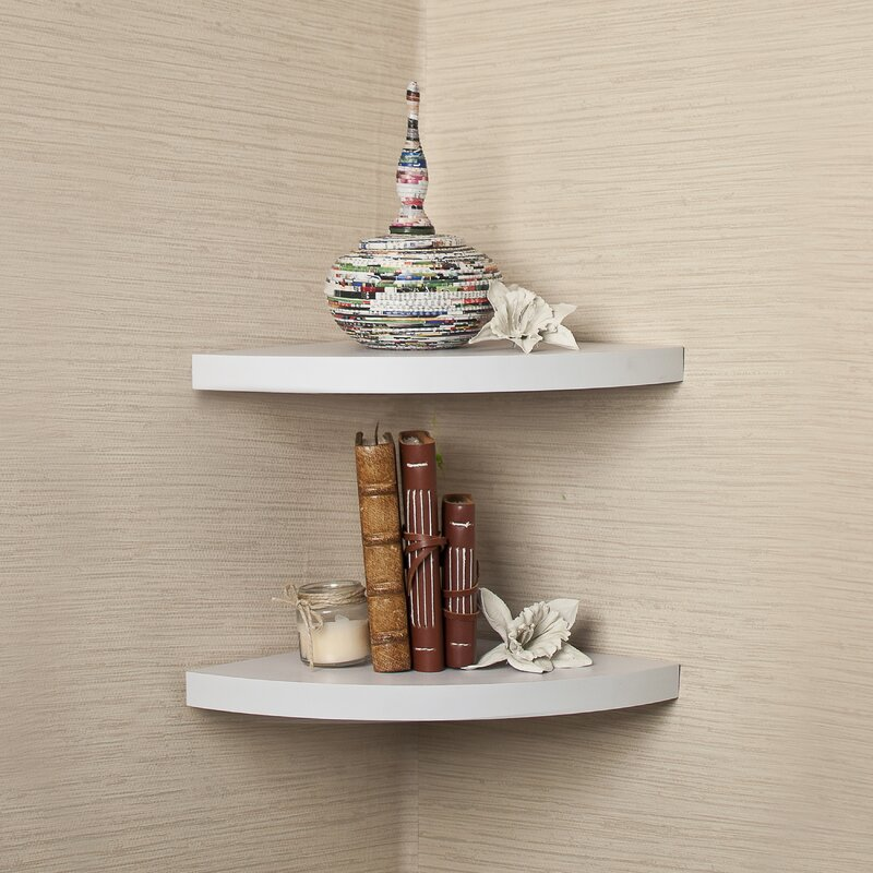 Rustic Corner Radial Shelf